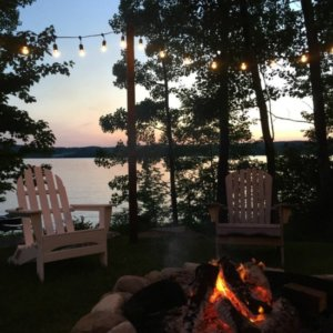 Eileen And Harry Talalas Lake Ariel Pa Real Estate Lakehouse Firepit Outdoor Living Area